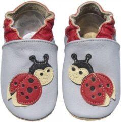 Hobea Babyslofjes grijs met lieveheersbeestje (Loop)