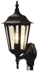 Zwarte Konstsmide Firenze - Wandlamp opwaarts 48cm - 230V - E27 bwm - matzwart