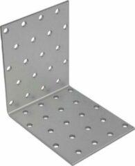 Gezu Impex 10x Versterkingshoeken / verbindingshoeken staal verzinkt - 100x100x80 mm - hoekijzers voor balkverbinding / houtverbinding / Hoekverbinders