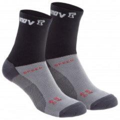 Inov-8 - Speed Sock High - Hardloopsokken maat S, zwart/grijs