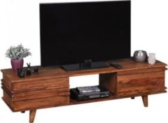 Wohnling Lowboard KADA Massivholz Sheesham Kommode 145 cm TV-Board Ablage-Fach Landhaus-Stil Unterschrank 41 cm TV-Möbel