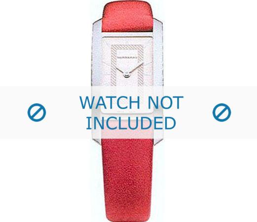 Afbeelding van Rode Burberry horlogeband BU1054 Leder Rood 14mm