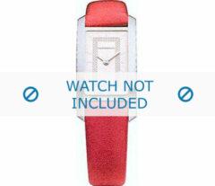 Rode Burberry horlogeband BU1054 Leder Rood 14mm