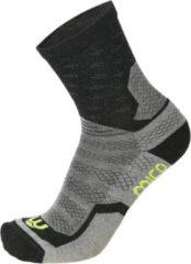 Grijze Mico Medium weight natural merino short outdoor socks