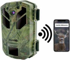 Camflo Wildcamera met Nachtzicht en Wifi - 30 MP & 4K Ultra HD Video - Incl. SD kaart 32GB en 8 AA Batterijen – Wildcamera voor buiten - Jachtcamera – Observatiecamera – Wild camera