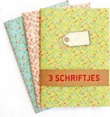 De Kaartenmakers Schriften Groen Blauw Roze - 3 stuks A5 Gelijnd