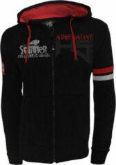 Zwarte Hotspot Design Zipped Adrenaline Sweater | Maat L