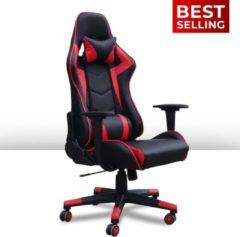 Ocazi Gamestoel / Bureaustoel – Ergonomisch – Gaming Chair – Gaming Stoel – Volwassenen/Kind – Met Nekkussen – Rood – Las Vegas