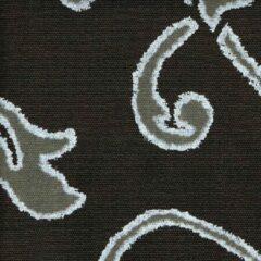 Acrisol Nebrodi marron oscuro celeste 221 zwart grijs wit motief stof per meter buitenstoffen, tuinkussens, palletkussens