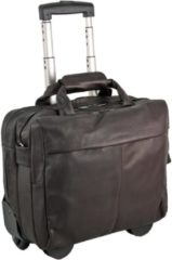 Country Business Trolley Leder 40 cm Laptopfach Harold's dunkelbraun