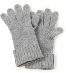 Handschoenen 100% kasjmier omslagboord Van Peter Hahn Cashmere grijs