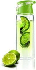 Groene Asobu Waterfles Flavour It 2 Go - Incl. Fruitfilter - 600 ml - Lime