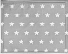 Grijze Jollein Boxkleed 75x95 cm Little Star dark grey 018-512-65009