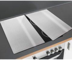 WENKO Herdabdeckplatte »Edelstahl, 2er Set« für Glaskeramik-Kochfelder