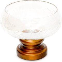 Relaxdays Schale Glas Holz Retro Verzierungen