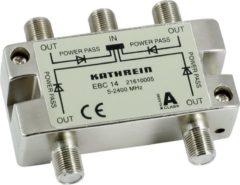 Zilveren Kathrein EBC 14 F 4xF Zilver kabeladapter/verloopstukje