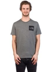 The North Face Men's Short Sleeve Fine T-Shirt - TNF Medium Grey Heather - L - Grey