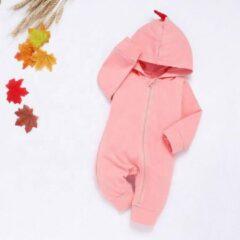 Merkloos / Sans marque Roze Baby Pyjama / Box pakje / Romper/ Jumpsuit / Onesie Dinosaurus/Draak – 100% Katoen – Zachte Stof - Voor Alle Seizoenen – Maat 62/68