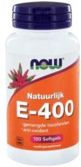 Now Foods Now Vitamine E-400 100% Natuurlijk Gemengde Tocoferolen (100sft)