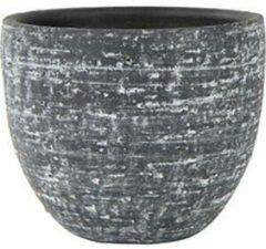 Antraciet-grijze Ter Steege Pot Karlijn antraciet bloempot binnen 22 cm