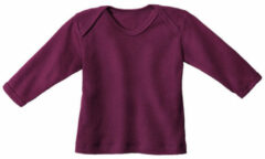 Minibär DESIGN Baby-ribshirt met lange mouwen, bessenrood 62/68