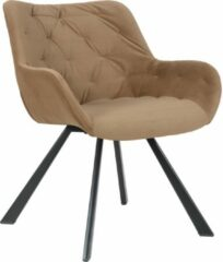 Alora Stoel Jake bruin - Velours - relaxstoel - fauteuil - eetkamerstoel