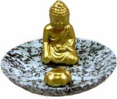 Gouden Wierookhouder Boeddha op schaal