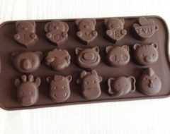 Bruine Merkloos / Sans marque EIZOOKSHOP Dieren vorm - Ijs Chocolade mousse vorm