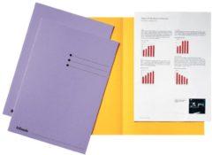 Paarse Esselte dossiermap lila karton van 180 g/m�� pak van 100 stuks