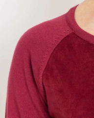 Nuanique Strickkleid mit Velours-Details