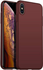 Donkerrode Merkloos / Sans marque Back Case Cover iPhone X / Xs Hoesje Burgundy