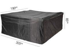Antraciet-grijze Tuinmeubelhoes Tuinset 305x190xh85 - Aerocover
