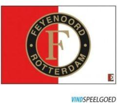 Rode Feyenoord Rotterdam Vlag feyenoord groot 100x150 cm rood/wit logo