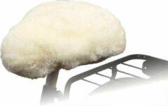 Creme witte Willex Fietszadelhoes Schapenvacht Naturel 30120