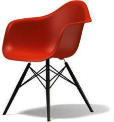 Vitra DAW Gestell schwarz - rot - Sitzhöhe 43 cm