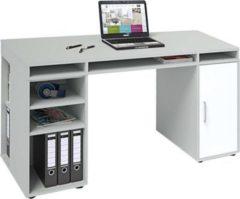 Maja Schreib- und Computertisch Agriano, platingrau/Icy-wei
