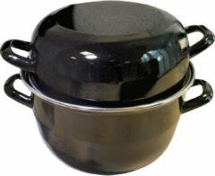 Bruine Imperial Kitchen Mosselpan Ø 24 cm Niet geschikt voor inductie. - Inhoud pan: 9 liter