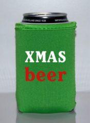 Koozie.eu 4 x bier blik koelhoudhoes Kerstmis thema| groen | Feestdagen kado idee
