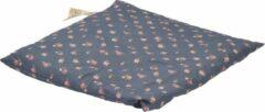 Donkerblauwe D&L Kersenpitje Classico 24 x 25 cm | Donker Blauw met Bloemen, Warmte Kussen - Opwarmbaar - Koud Warm Kompres