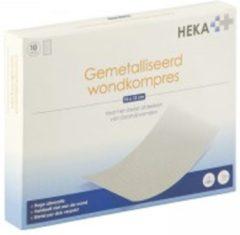HEKA Alupad - Gemetalliseerd wondkompres 10 x 12 cm steriel - 10 stuks