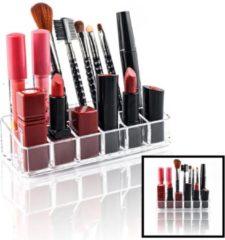 Make up Organizer met 12 Vakken – Make-up Organizer Transparant - Sieraden Makeup Cosmetica Opbergsysteem - Display Houder voor Lippenstift / Nagellak / Brushes / Visagie - Make up kwasten / Sieraden etc. - Decopatent®