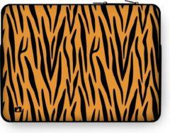 """DuckZip Laptophoes 15 inch – Macbook Sleeve 15"""" - Tijgerprint"""