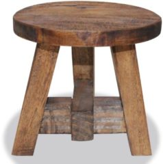Bruine VidaXL Kruk 20x20x23 cm massief gerecycled hout