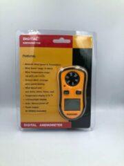 Oranje Spider Digitale Anemometer Windsnelheids meter met ingebouwde thermometer