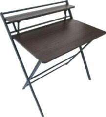 Bruine VDD Industrial Vintage Design Bureau laptoptafel inklapbaar Stoer - industrieel vintage stijl - ruimtebesparend