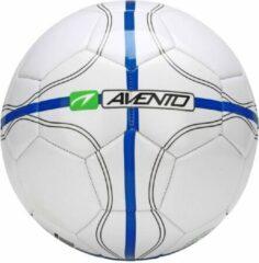 Blauwe Avento Voetbal Glossy - League Defender II - Wit/Kobalt/Groen - 5