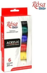Rosa Studio Acrylverf Set 6x20ml