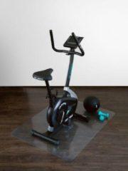 Zwarte Onderlegmat / beschermmat voor fitnessapparaten - Transparant - 90x120 cm