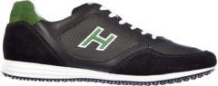 Nero Hogan Scarpe sneakers uomo in pelle olympia x h flock h205