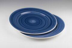 Dudson - Brasserie - Handbeschilderd - Pizzabord 31cm - Blauw - set á 2
